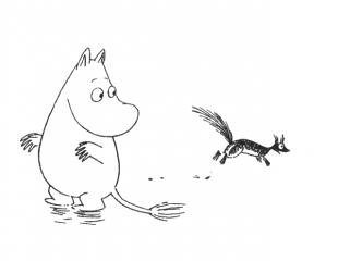 Муми-тролль и бельчонок