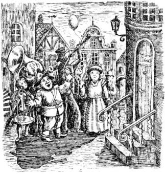 10 Люди и разбойники из Кардамона, иллюстрации, Сказочные повести скандинавских писателей 1987