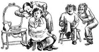 13 Люди и разбойники из Кардамона, иллюстрации, Сказочные повести скандинавских писателей 1987