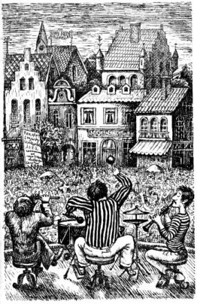 14 Люди и разбойники из Кардамона, иллюстрации, Сказочные повести скандинавских писателей 1987
