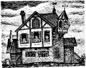 4 Люди и разбойники из Кардамона, иллюстрации, Сказочные повести скандинавских писателей 1987