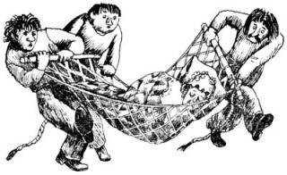 9 Люди и разбойники из Кардамона, иллюстрации, Сказочные повести скандинавских писателей 1987